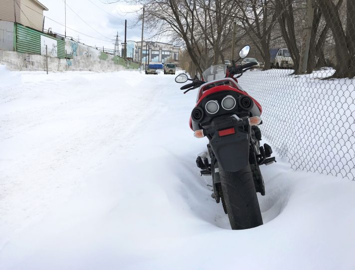 proteggere la moto dall'inverno