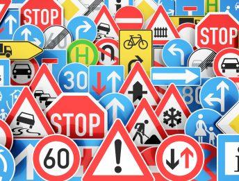 Segnali stradali per moto e bici