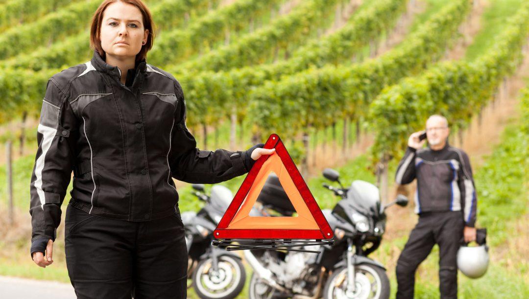 Incidente autostradale in moto