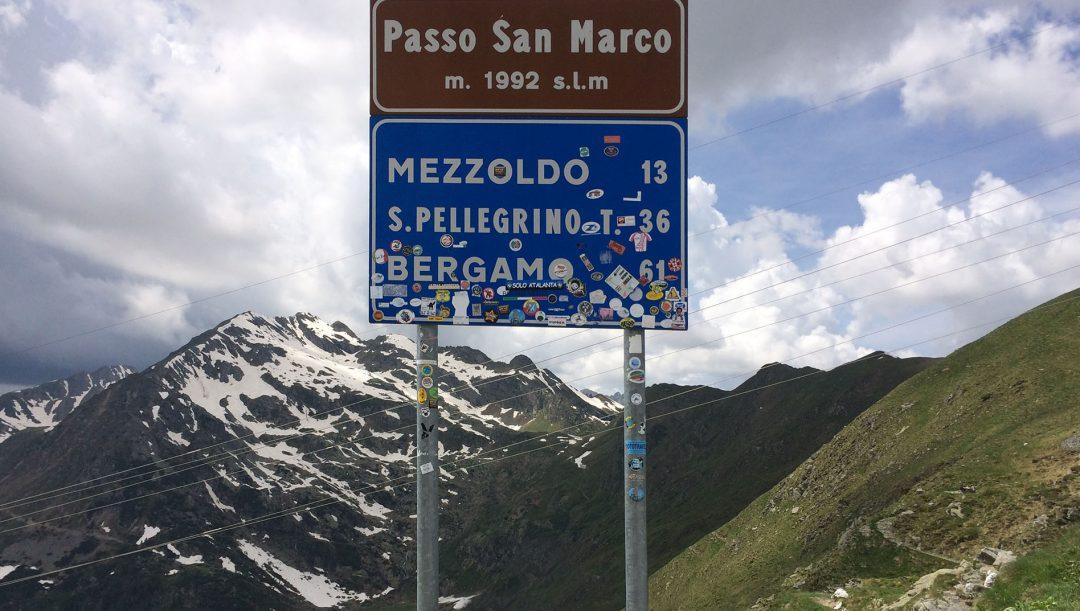 Passo San Marco in moto